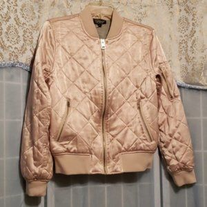 TOPSHOP SATINY QUILTED BOMBER STYLE JKT SZ 8